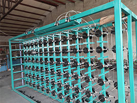 Sectional warping machines hanging shelf is upgrading